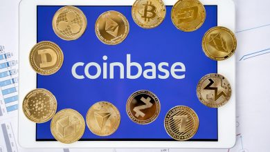 """Photo of Does the """"Coinbase Effect"""" exist?  5 coins in focus"""